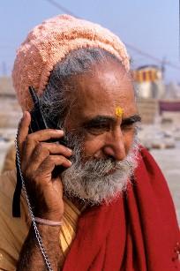 Rural Man on Phone