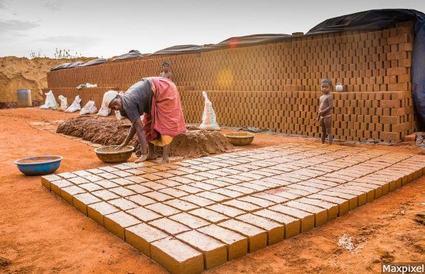 Tamilnadu India Bricks Salem Hiring Labour Sengal