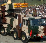 The ?PINAKA? multi barrel rocket launching system, passes through the Rajpath during the 58th Republic Day Parade - 2007, in New Delhi on January 26, 2007.
