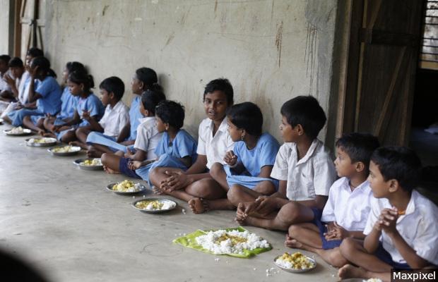 Eating Boys Infants India Children Girls Meal