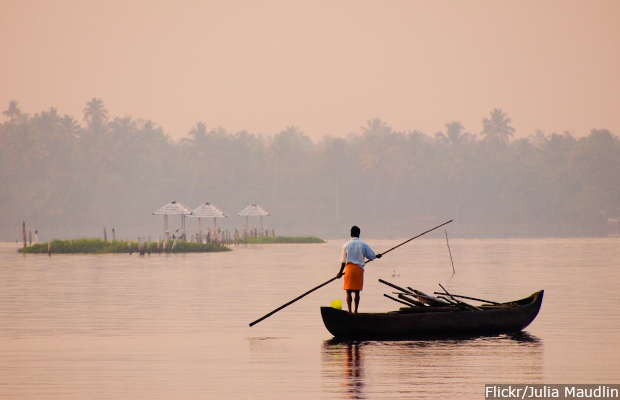 Sunrise, Vembanad Lake, Kerala, India