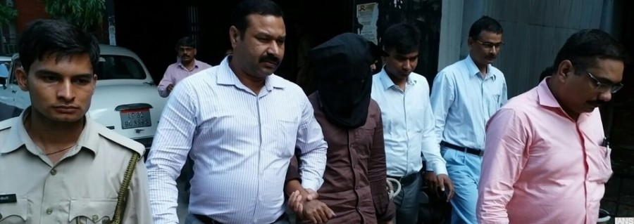 Lucknow: One of the two persons with links to suspected Islamic State operative Saifullah, who was killed in a shootout with security forces in Lucknow in March this year, being taken to be produced before NIA Special Court in Lucknow on July 26, 2017. The National Investigation Agency (NIA) on Tuesday arrested the two identified as Mohammad Atif and Asif Iqbal from Uttar Pradesh's Kanpur. According to the counter-terror agency, Atif provided weapons and ammunition to Saifullah while Iqbal was said to be a part of the module. (Photo: IANS)