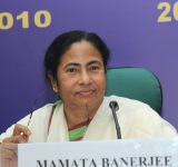 The Union Minister for Railways, Kumari Mamata Banerjee addressing at the Economic Editors? Conference-2010, in New Delhi on October 27, 2010.