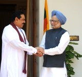 The Prime Minister, Dr Manmohan Singh meeting the President of Sri Lanka, Mr. Mahinda Rajapaksa, in New Delhi on June 09, 2010.